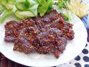 Thịt bò khô tẩm sả ớt