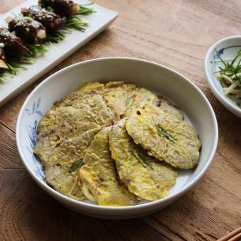 Thịt bò tẩm trứng và bột chiên