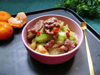 Thịt bò xào bắp cải cay thơm
