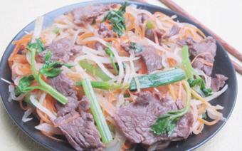 Thịt bò xào củ cải khô