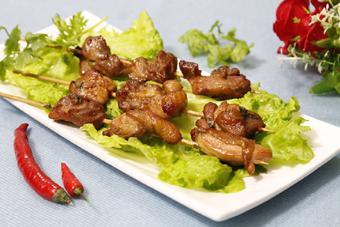 Thịt gà xiên nướng