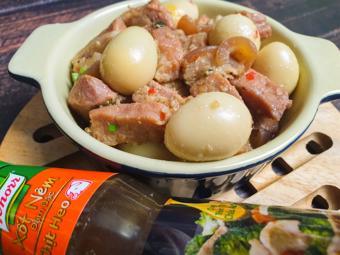 Thịt kho trứng cút thơm ngon