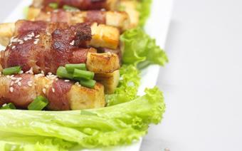 Thịt muối cuộn đậu hũ trắng