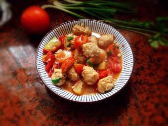 Thịt viên sốt cà chua tuyệt ngon