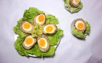 Thịt xay bọc trứng chiên xù