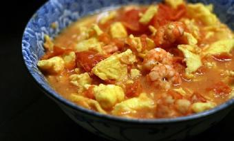 Tôm sốt trứng cà chua