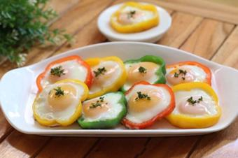Trứng chiên ớt chuông