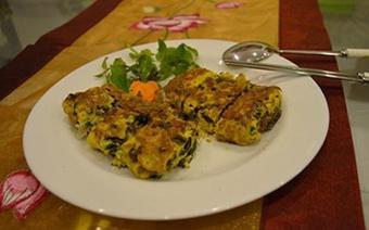 Trứng gà chiên nấm