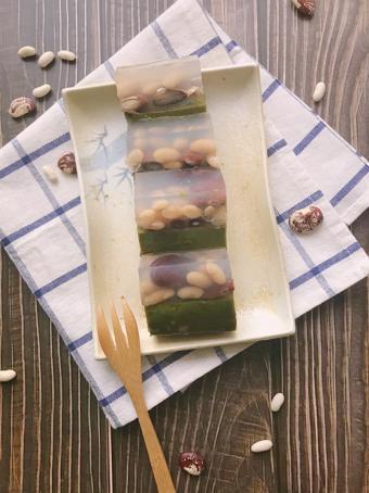 Yokan - Thạch trà xanh và các loại đậu