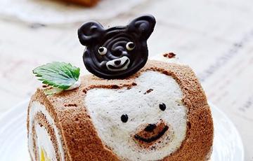 Bánh bông lan gấu