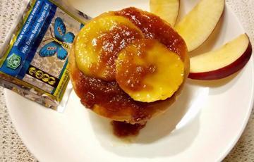 Bánh bông lan táo nướng