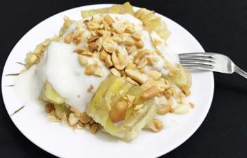 Bánh chuối hấp cốt dừa