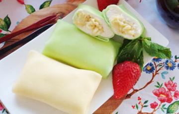 Bánh crepe nhân kem sầu riêng