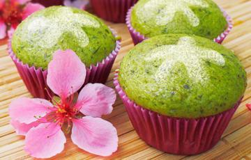 Bánh cupcake hương trà xanh