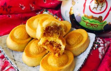 Bánh dứa Đài Loan hình thỏi vàng