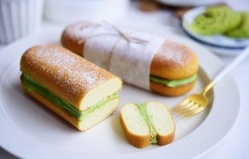 Bánh kẹp kem phô mai trà xanh