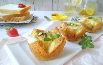 Bánh mì nướng trứng phô mai bằng lò nướng