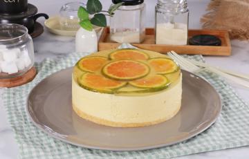 Bánh mousse xoài gương cam
