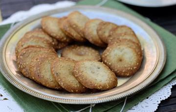 Bánh quy mè trắng