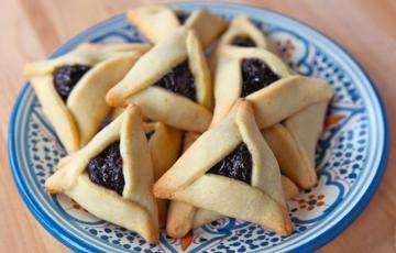 Bánh quy nhân mứt hình tam giác