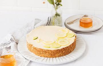 Bánh tart chanh mật ong không dùng lò nướng