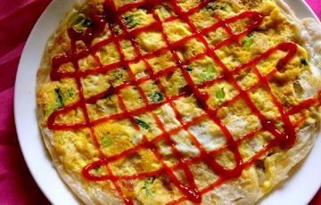 Bánh Tortilla chiên trứng