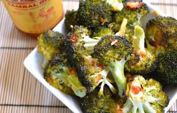 Bông cải nướng sốt samba