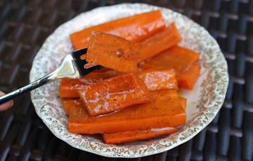 Cà rốt nướng bơ đường nâu