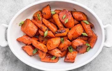 Cà rốt nướng sốt miso