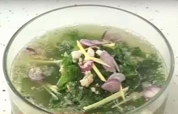 Canh cải cá rô đồng
