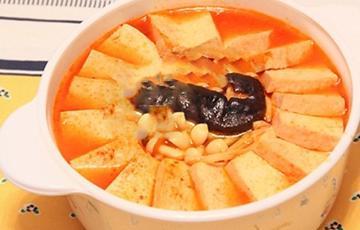 Canh kim chi nấu đậu hũ