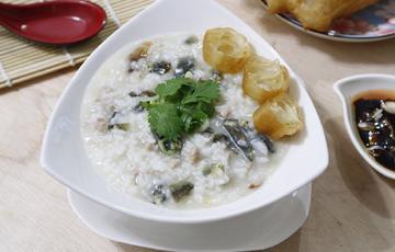 Cháo trứng bắc thảo bổ dưỡng