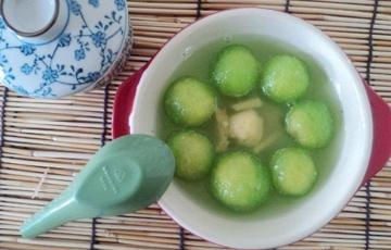 Chè bột báng đậu xanh