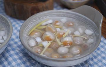 Chè bột lọc nhân dừa đậu phộng