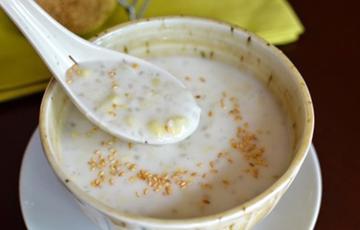 Chè hạt bắp bột báng