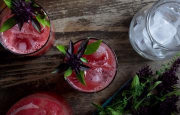 Cocktail dưa hấu rượu Soju