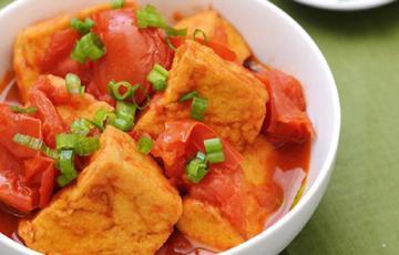 Đậu hũ chiên sốt cà chua béo thơm