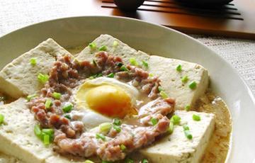 Đậu hũ hấp trứng thịt