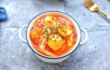Đậu hũ sốt cà chua nấm