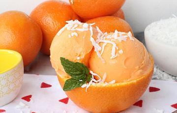Kem tươi cam dừa