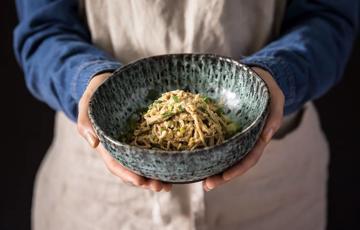 Mì Soba trộn đậu phộng cay