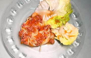 Mì Ý bò bằm sốt cà chua
