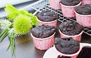 Muffins dark chocolate