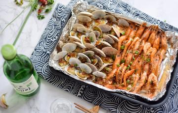 Nấm nướng giấy bạc hải sản