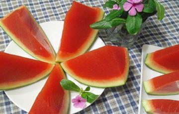 Rau câu trái dưa hấu