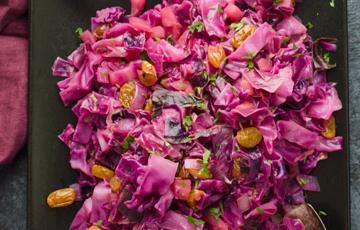 Salad bắp cải tím chua ngọt