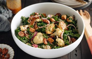 Salad bông cải sốt tahini miso