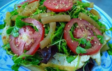 Salad cải con chay