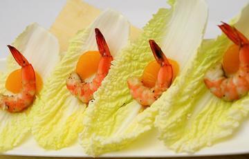 Salad cải thảo trộn tôm