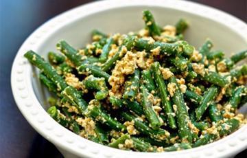 Salad đậu que trộn miso mè